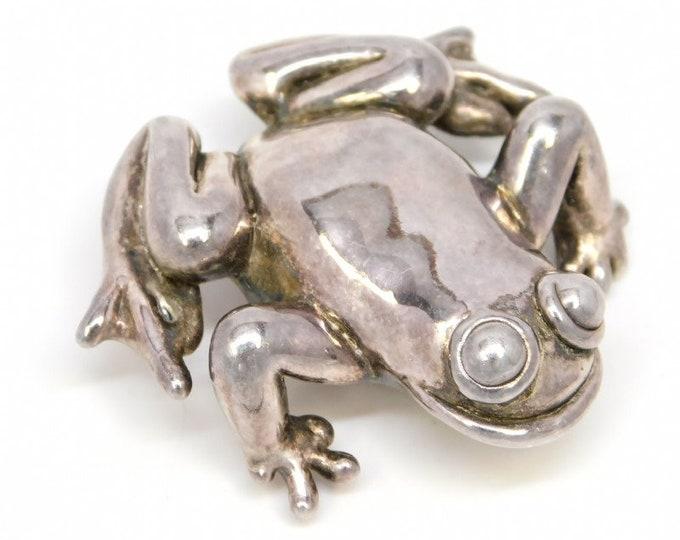 Vintage Brooch | Sterling Silver Brooch | Bon Ami Brooch | Frog Brooch | Israel