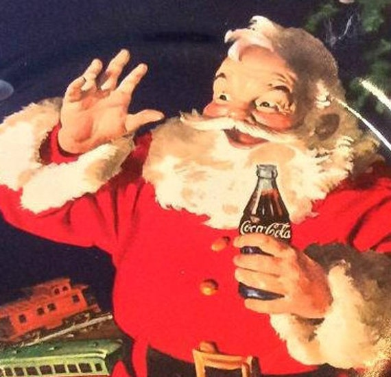 Image Pere Noel Coca Cola.Plaque De Pere Noel Sakura Plat Plaque De Pere Noel Coca Cola Edition Limitee Assiette De Noel Vintage Coke