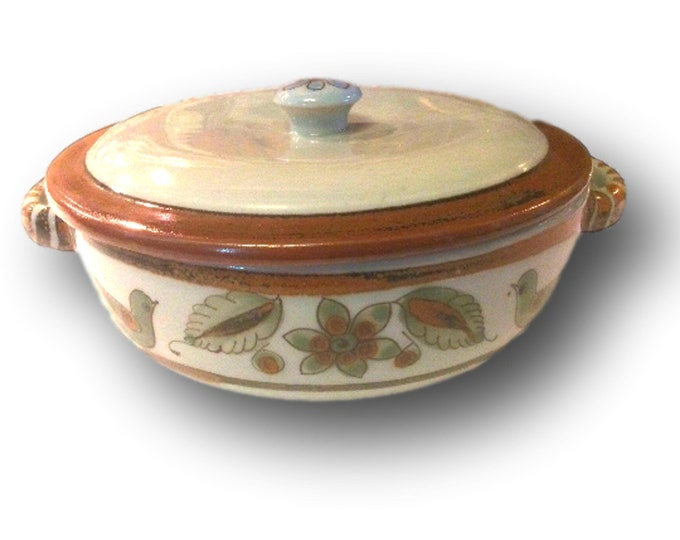 Pottery Bowl | Ken Edwards | Stoneware Pottery | Covered Dish | Vintage Baking Dish | El Palomar
