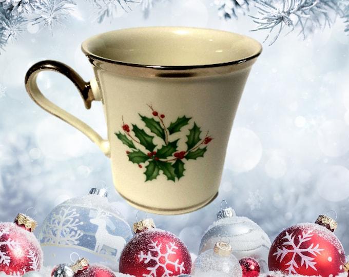 Lenox Holiday Platinum Mug | Dimension Collection | Set of 4