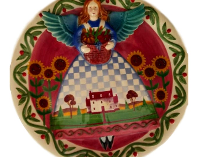 Gifts Under 50 | Jim Shore 3D Angel Plate | Heartwood Creek | Angel Wall Hanging | Angel Lover Gift
