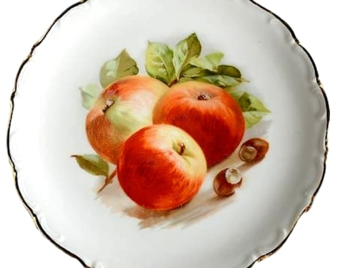 Schumann Arzberg Bavaria Fine China Salad Plate With Apples