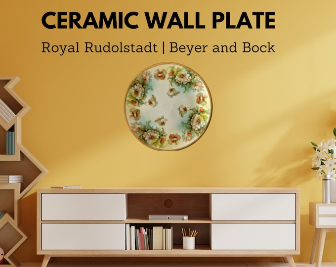 Ceramic Wall Plate | Royal Rudolstadt | Beyer and Bock