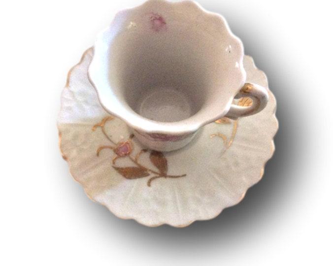 Ceramic Teacup | Demitasse Cup Saucer | Antique Demitasse Espresso | Ceramic Teacup | Kalk