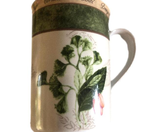 Vintage American Atelier Coffee Mug   Bouquet Garni Coffee Mug   Parsley Pepper Herbal Coffee Mug
