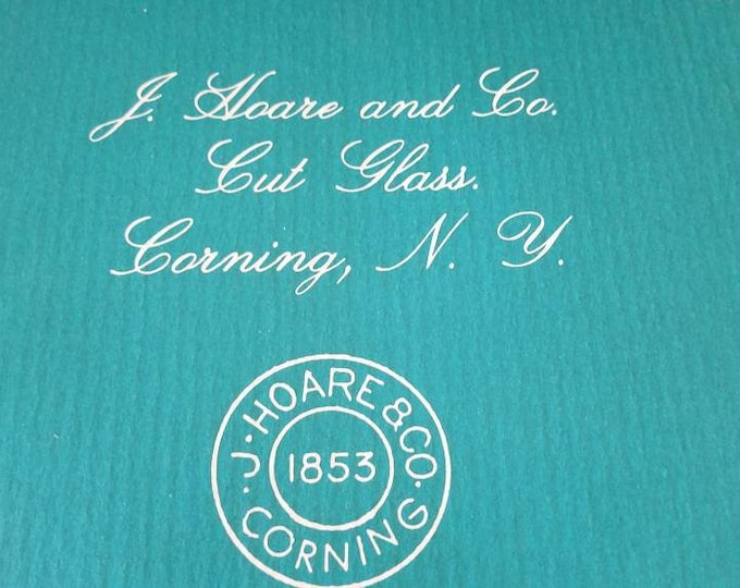 J Hoare Company Catalogue | Cut Glass Pictorial History Book
