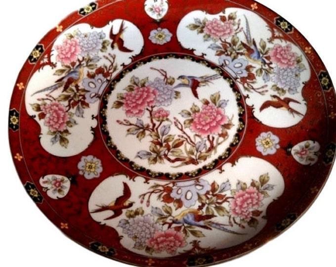 Lotus Flower Plate Oriental Garden Dish