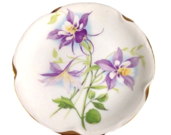 Antique Wall Hanging Porcelain Plate | Hand Painted Decorative Floral Plate | J C & Louise Bavaria Plate