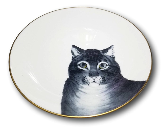 Cute Cat Plate   Wall Plate   Gifts Under 50   Cat Lovers Gift   Metro Museum of Art Plate