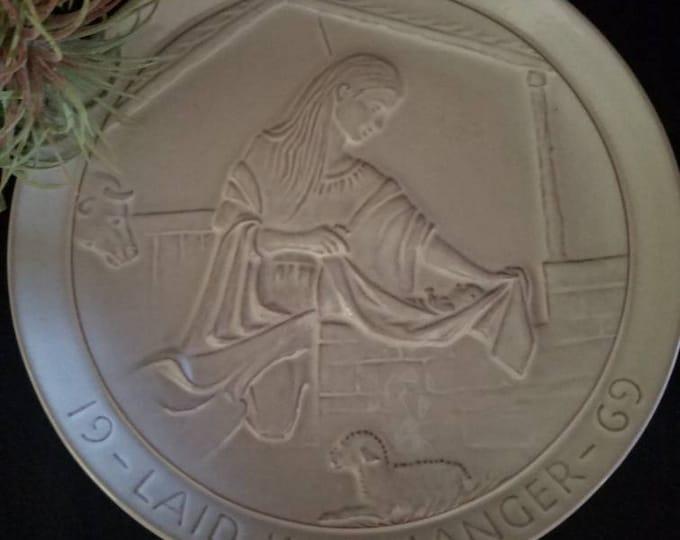 Frankoma Pottery Plate Christmas Religious Decorative Plate 1969