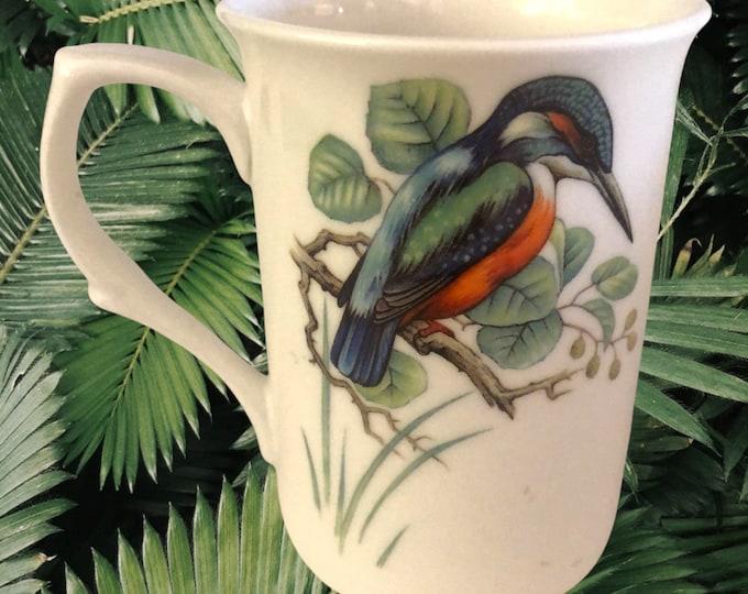 Bird Lover Gifts | 2 Kingfisher Bone China Coffee Mugs