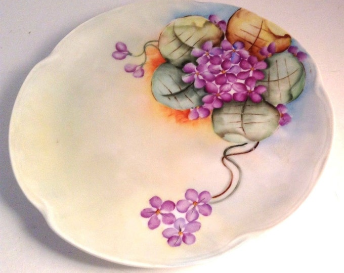 Jaeger & Co. Louise | Bavarian Plate | Hand Painted Violets Plate