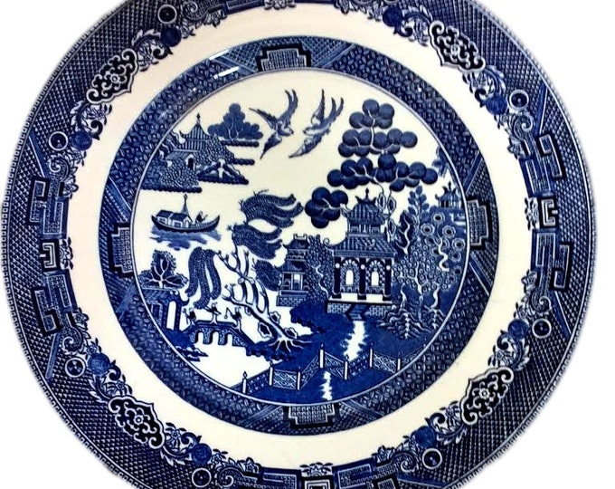 Gift Under 50 | Blue Willow Dinner Plate | Johnson Brothers | Mid Century Plates