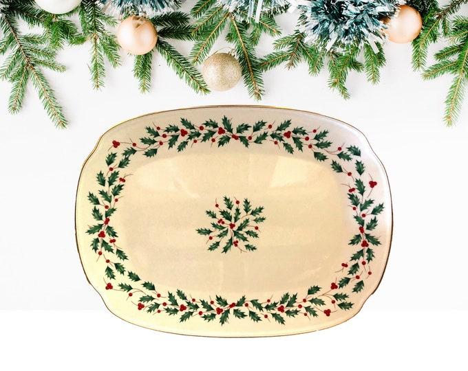"Lenox American By Design Christmas 15"" Oblong Serving Platter"