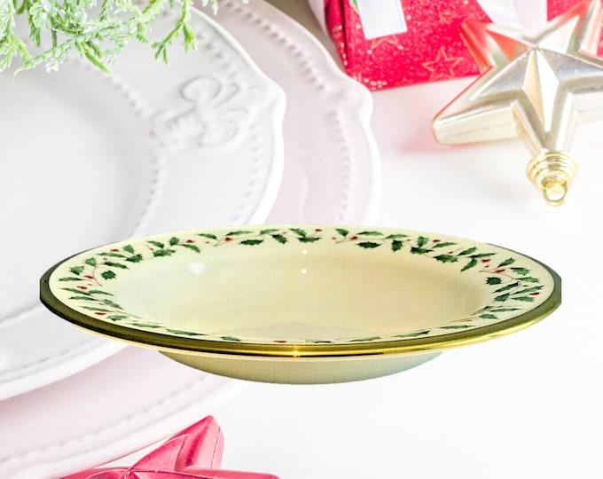 Lenox Christmas China | Soup Bowls | Pasta Bowls |  Lenox Dimensions Holiday |  Set of 6