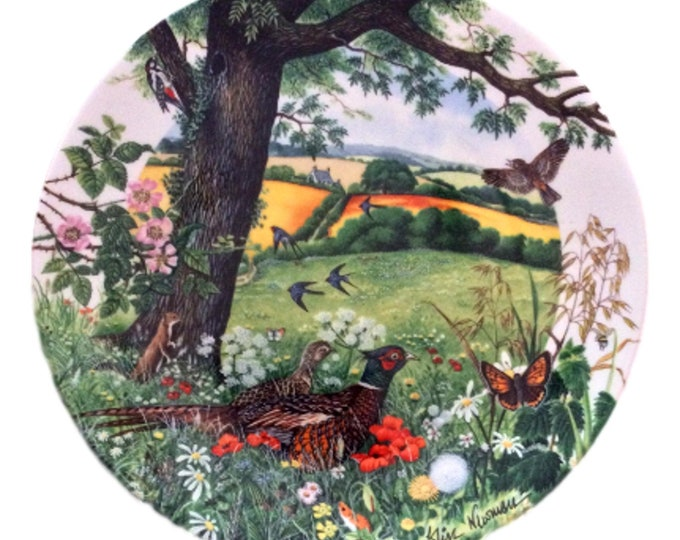Wedgwood Plate Colin Newman's Country Panorama