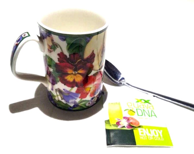 Royal Doulton Mug   Fine China Cup   Tea Mug   Fruit Tapestry   Gift Under 30   Pansies