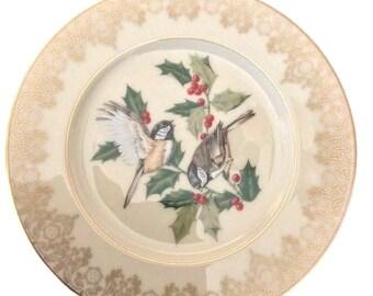 Lenox China Garden Birds Chickadee Bird Bone China Plate