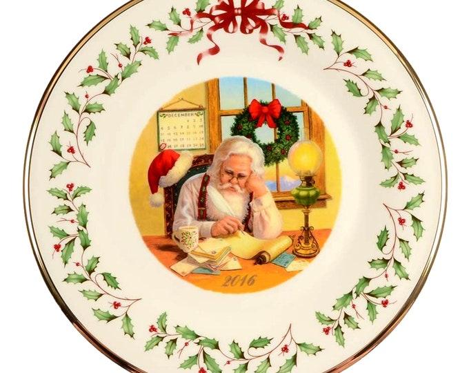 Lenox Wall Plate | Lenox China 26th Annual Plate  | Collector Plate | Santa's List