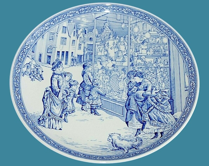 Spode 1998 Annual Christmas Victorian Wall Plate | Spode Blue Room Collection