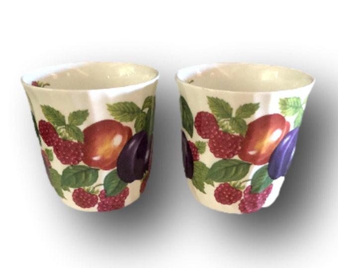 Grandma Coffee Mug Gift   Bone China Cups   Set of 2 Fruit Coffee Mugs   Crown Trent Coffee Mugs   Gifts Under 50