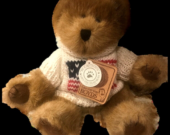 Teddy Bear Plush | Boyds Bears Plush Bear | Sturbridge Q Patriot