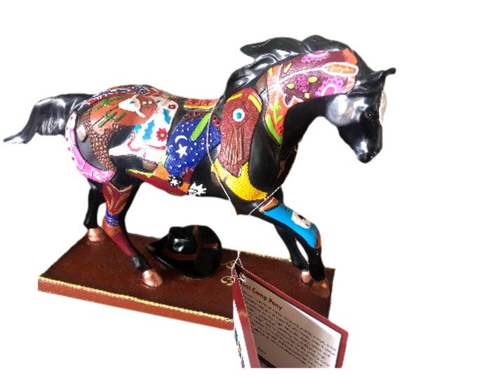 Cowboy Up | Equine Gifts |  Horse Figurine | Horse Statue | Trail of Painted Ponies | Boot Camp Pony | Equestrian Decor