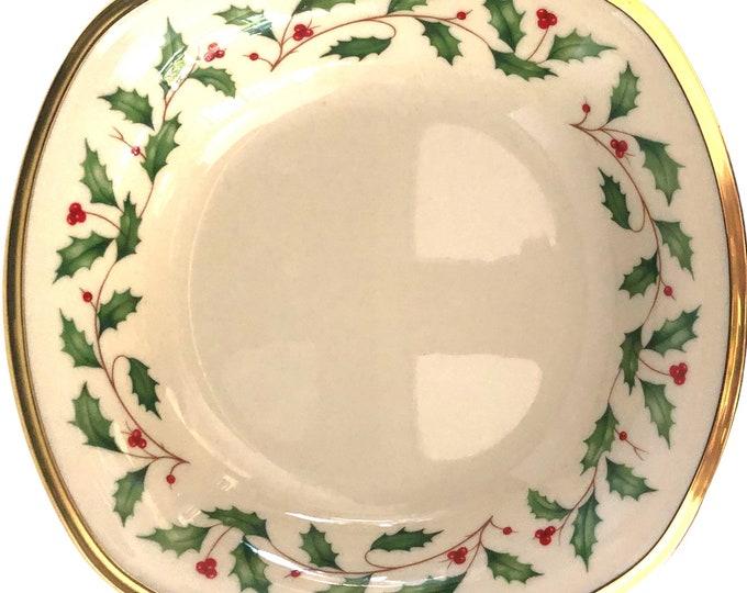 Lenox Christmas China Holiday Square Soup Pasta Bowls