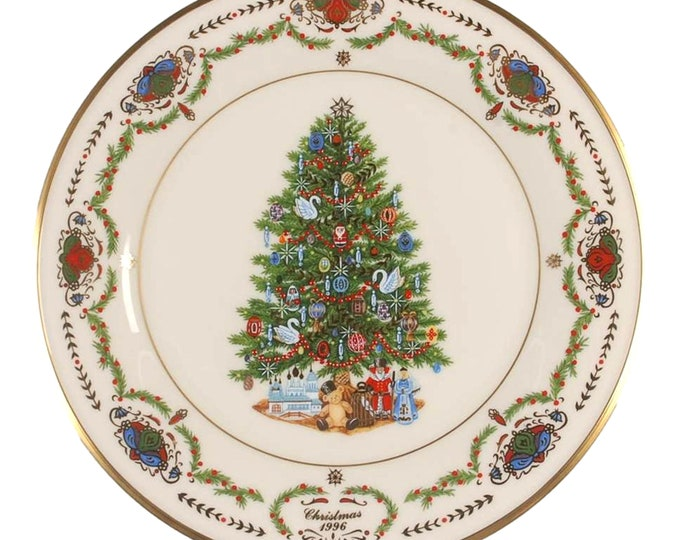 Lenox Russian Porcelain Wall Plate | Christmas Tree Plate | Christmas Trees Around the World