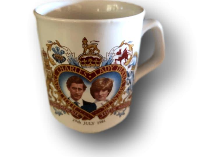 Souvenir Mug | Historic Coffee Mug | Royal HMS Prince Charles Lady Diana Spencer Coffee Mug |  Royal Wedding Coffee Mug