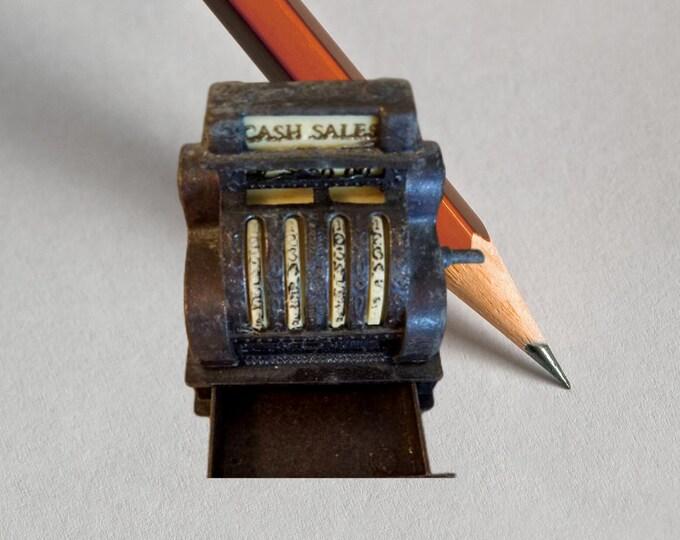 Vintage Pencil Sharpener Miniature Cash Register