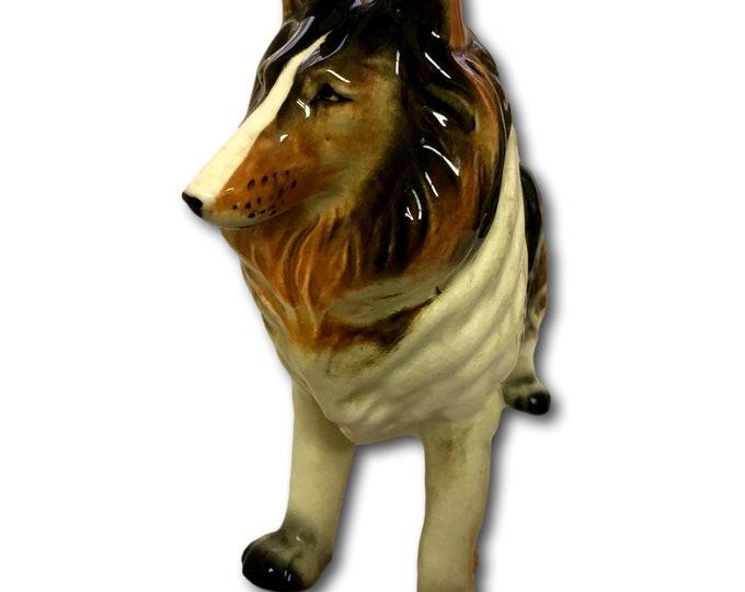 Dog Figurine Vintage | Vintage Sheltie Dog Figurine | Lassie Collie Dog Figurine | Dog Lover Gift