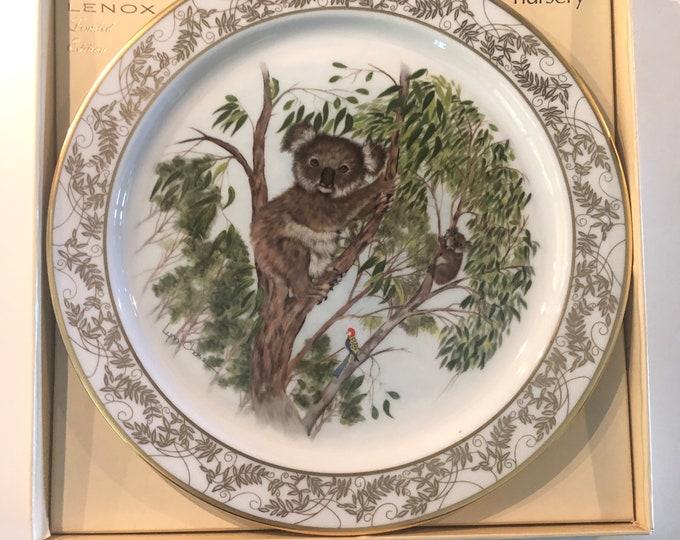 Koala Gift | Limited Edition Plate | Nature's Nursery Commemorative Plate | Koala Bears | Boxed Gift Plate | Lenox USA | Gift Under 50