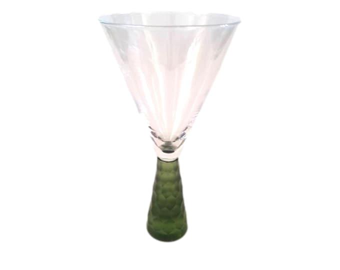 Artland Prescott Frosted Green Crystal Wine Glasses   Set of 2
