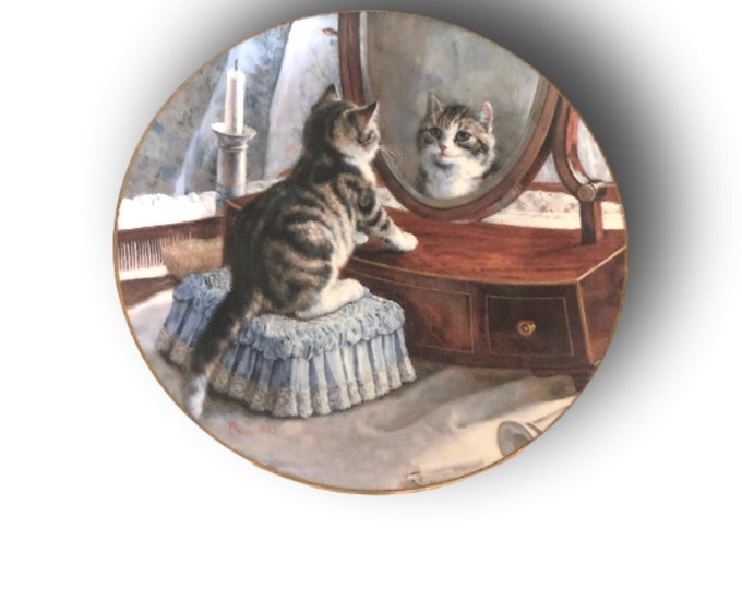Cat Plates | Wall Hanging | Wall Plates |  Victorian Cat Capers