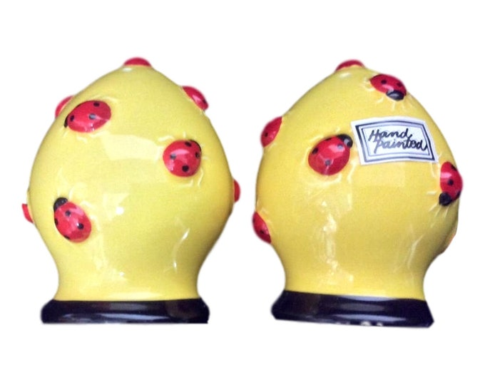 Department 56 | Salt and Pepper Shakers | Lady Bug Gifts | Yellow Shakers | Gift Under 30