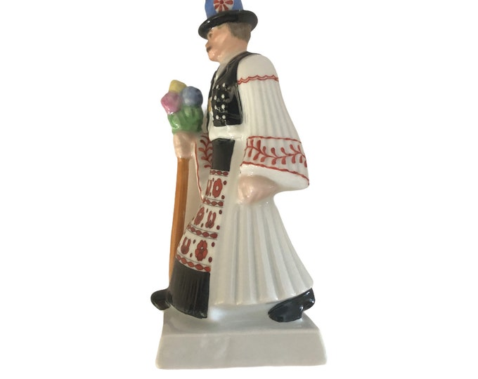 Herend Hand Painted Figurine | Hungarian Wedding Party | Groom Statuette | Hard To Find | Hungary