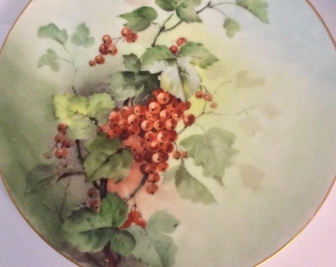 Vintage Sevres Bavarian Wall Plate | Hand Painted Wall Plate | Cabinet Wall Plate | Antique Plate