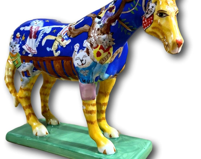 Hand Painted Horse Figurine | Trail of Painted Ponies | Kitty Cats Ball Pony