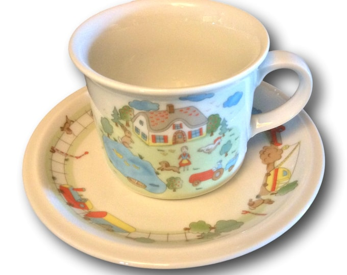 Bavarian Winterling Teacup Set