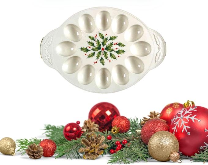Deviled Egg Tray | Deviled Egg Platter | Christmas Deviled Egg Platter
