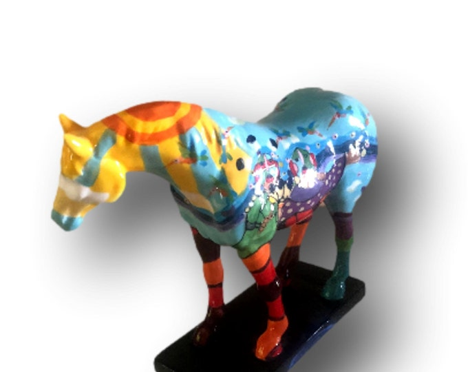 Horse Figurine | Horse Statue | Painted Ponies | Love As Strong As A Horse