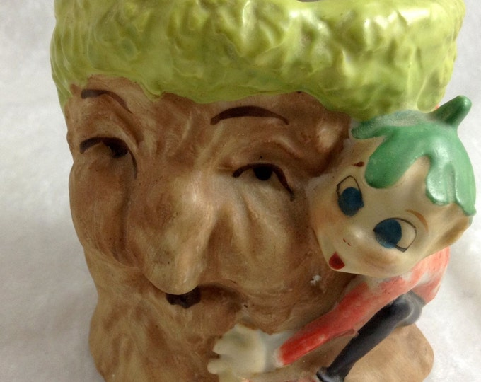 Stump Planter | Elf Pixie | Tree Face | Fantasy Planter