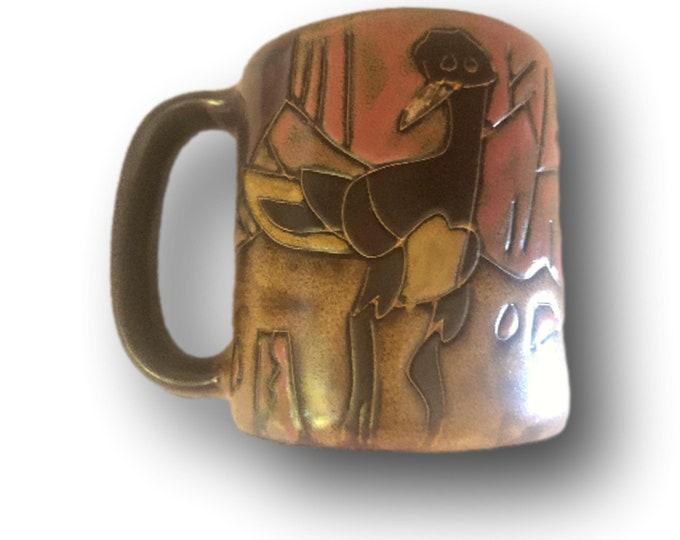Stoneware Mug Mexico | Mara of Mexico Mug | Mexico Pottery Mug | Roadrunner Bird | Handmade Mug | Lead Free Stoneware Mugs