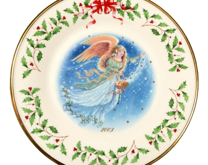 Lenox Wall Plate | Lenox Annual Plate | Collector Plate | Angel Plate