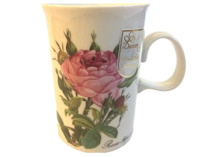 New Dunoon Stoneware Coffee Mug with Roses