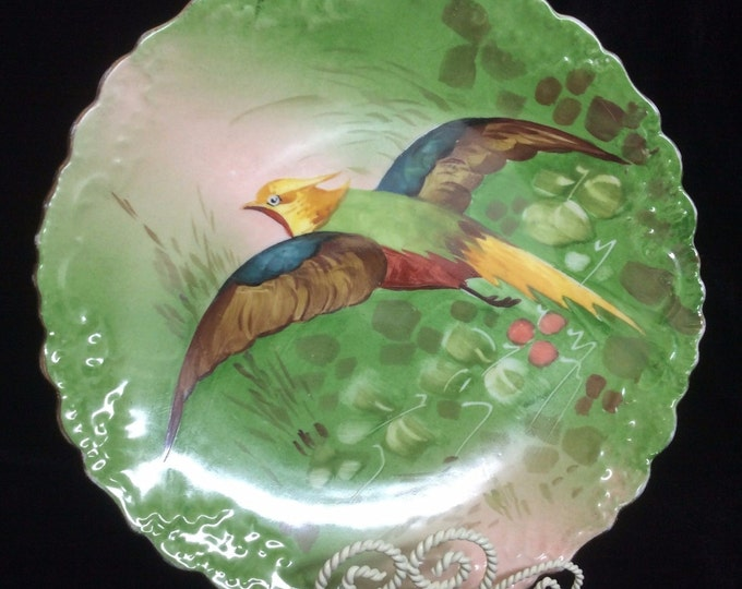 Limoges Wall Plate   Limoges Wall Decor   Limoges China Pheasant Hand Painted Plate
