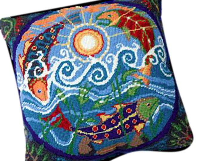 Ehrman Flying Fish Needlepoint Tapestry Kit