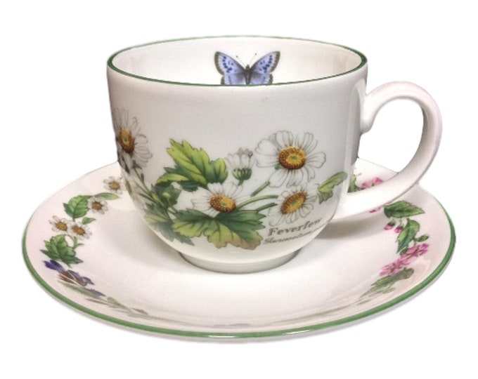 Royal Worcester | TeaCup & Saucer | Worcester Herbs Cup and Saucer | Gift Under 50