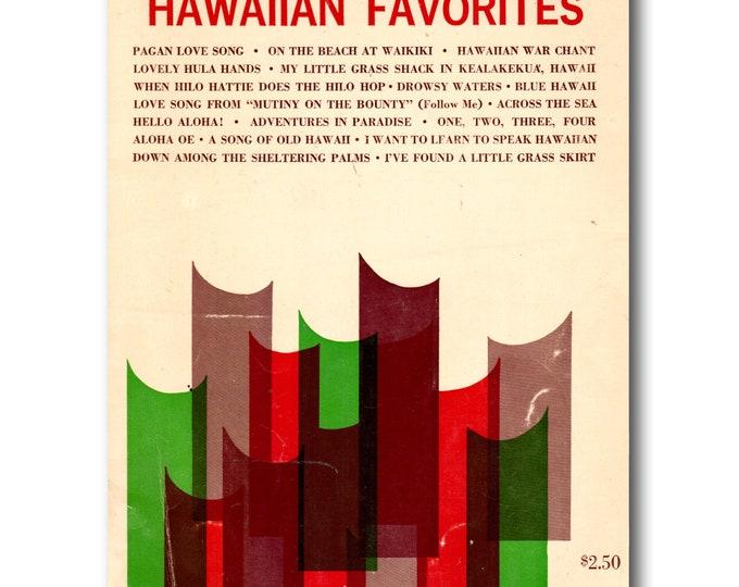 Hawaiian Favorites | Robbins All-Organ Series | Sheet Music Book Organs | 1960s